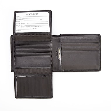 Royce Leather GPS Tracking and RFID Blocking Slim Women's Wallet in Genuine Leather (RFTR-109A-BL-5)