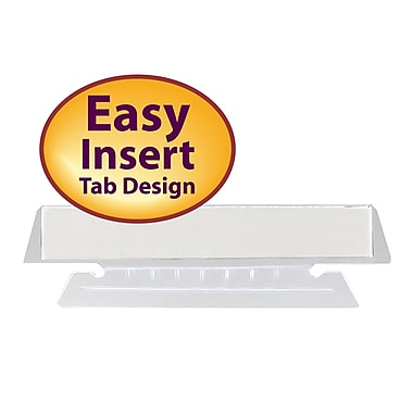 Smead® Poly Tab, Clear, 25/Pack