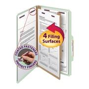 "Smead® Pressboard Classification File Folder with SafeSHIELD® Fasteners, 1 Divider, 2"" Exp., Legal, 10/Box"