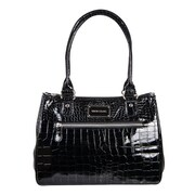 "Simon Chang Ladies Faux Leather Croco Print Cooler Bags, 8.5"" Handle"