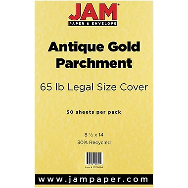 JAM Paper® Recycled Legal Cardstock (8 1/2 x 14), 50 Sheets/Pack