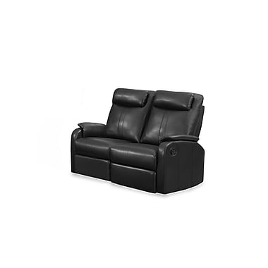 Monarch Jason Series Reclining Bonded Leather Love Seat