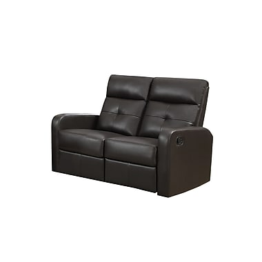Monarch Ronald Series Reclining Bonded Leather Love Seat,