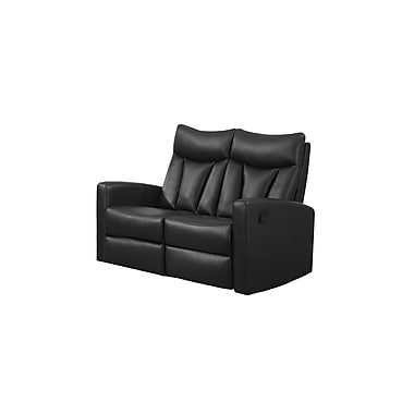 Monarch Reclining Jonathan Series Bonded Leather Love Seat