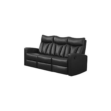 Monarch – Sofa inclinable en cuir reconstitué Jonathan