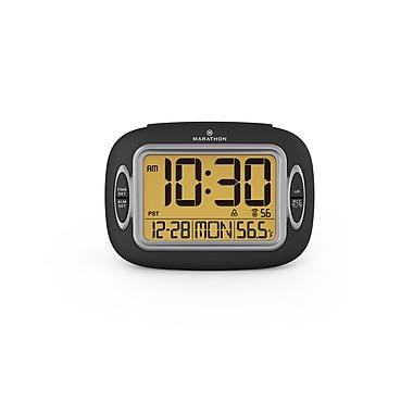 Marathon – Horloge atomique avec température date et réveille-matin
