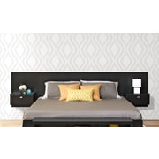 Prepac™ Series 9 Designer Floating King Headboard with Nightstands