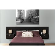 Prepac™ Series 9 Designer Floating Queen Headboard with Nightstands