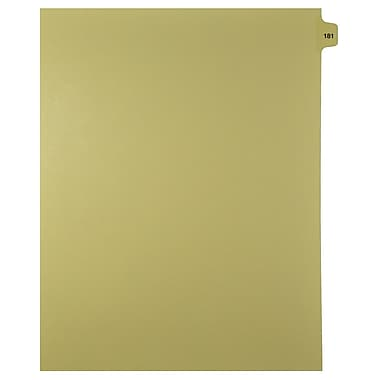 Mark Maker Legal Exhibit Index Tab Buff Single Tabs, 1/15th Cut, Letter Size, No Holes, Number 181-200, 25/Pack