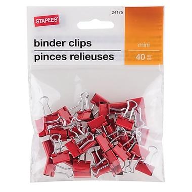 Staples® Mini Binder Clips, 40/Pack