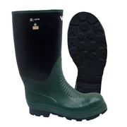 Viking Journeyman NBR Rubber Safety Boot, ASTM F2413-11 Steel Toe, Steel Plate, Green and Black (VW8-3-10)