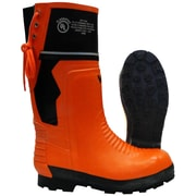 Viking Timberwolf Chainsaw Protection Lug Sole Boot, ASTM F2413-11 Steel Toe, Steel Plate, NBR Rubber, Orange and Black