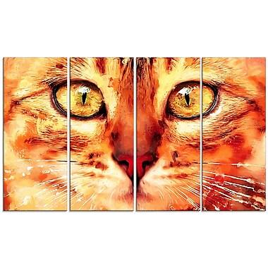 Designart – Imprimé sur toile, regard félin, 5 panneaux