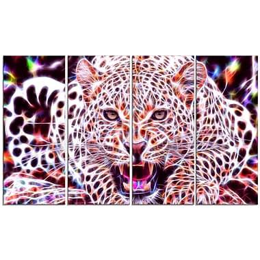 Design Art – Chat sauvage luminescent, grande toile