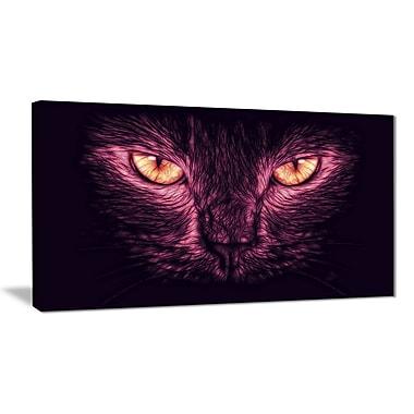 Design Art – Yeux de chat, rose/noir, art animalier, plusieurs tailles