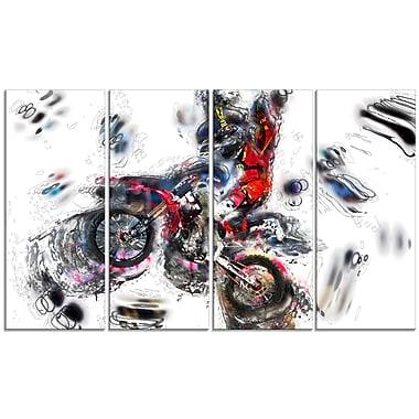 Design Art Moto Cross Sports Canvas Print