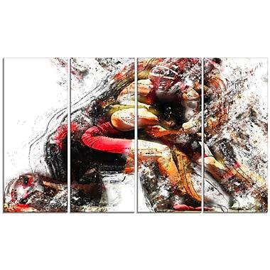 Design Art – Wrestling in Action, impression sur toile