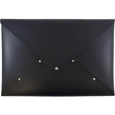 JAM PaperMD – Porte-documents en cuir italien, fermeture à bouton pression, format légal, 10 1/4 x 14 3/4 po, vendu séparément