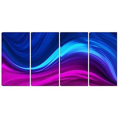 Designart – Imprimé abstrait sur toile, contemporain, synchronicité, 4 panneaux