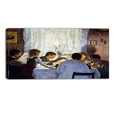 Design Art – Gustav Wentzel, Breakfast II. The Artists Family, impression sur toile