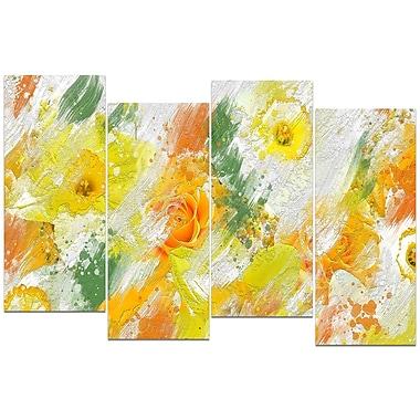 Designart – Imprimé sur toile, abstrait, marguerites