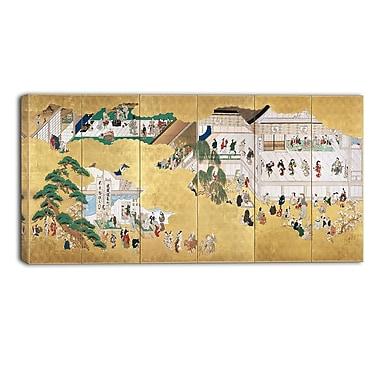Designart – Hishikawa Moronobu, scènes du théâtre kabuki Nakamura, illustration de paysage