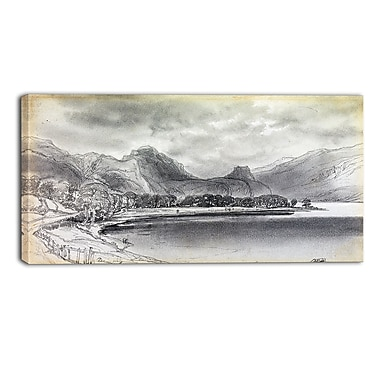 Design Art Edward Lear, Derwentwater Landscape Canvas Art Print