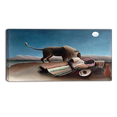 Designart – Henri Rousseau, La Bohémienne endormie imprimée sur toile panoramique