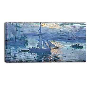 Designart – Imprimé sur toile, Claude Monet, Lever de soleil