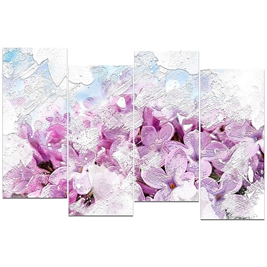Designart – Art imprimé sur toile, jardins de fleurs