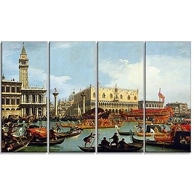 Designart – Le Bucentaure retournant au Môle le jour de l'Ascension par Canaletto, imprimé sur toile
