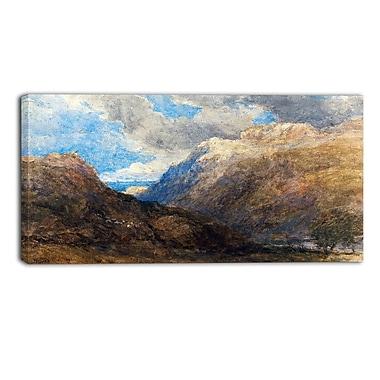 DesignArt – Imprimé de paysage sur toile, David Cox, Penmanmawr