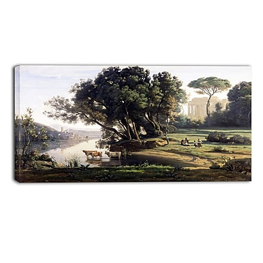 Designart – Paysage italien par Camille Corot, imprimé de paysage sur toile