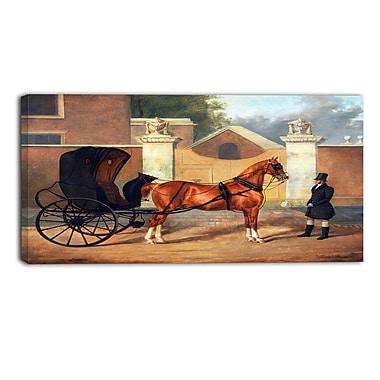 DesignArt – Imprimé de paysage sur toile, Charles Hancock, Gentlemens Carriages