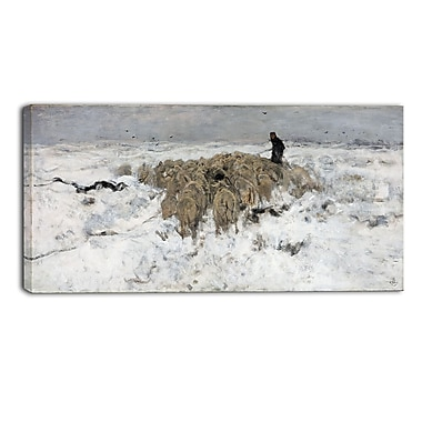 Design Art – Anton Mauve, Flock of sheep with Shepherd Sea and Shore, toile