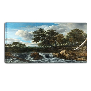 Design Art – Jacob Isaacksz, Landscape with Waterfall, impression sur toile