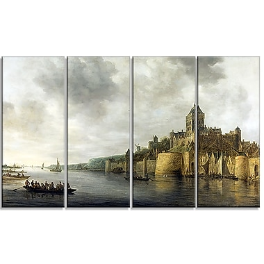 Design Art – Jan van Goyen, View on the Waal Sea and Shore Canvas, impression sur toile