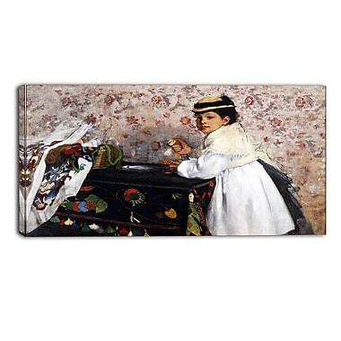 Design Art – Edgar Degas, Portrait de Mlle. Impression sur toile