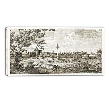 Designart – Vue imaginaire du paysage de Padua par Canaletto, imprimé sur toile