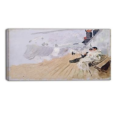 Designart – Frits Thaulow, moines sur la terrasse, mer et rivage, toile d'illustration