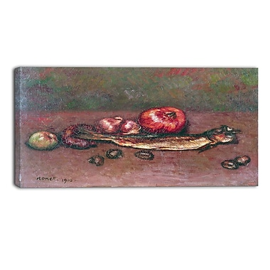 Design Art – Isidre Nonell, Still Life with Onions and Herring, impression sur toile