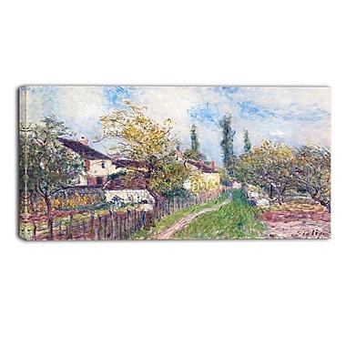 Design Art – Alfred Sisley, A Path at Les Sablons Large Landscape, impression sur toile