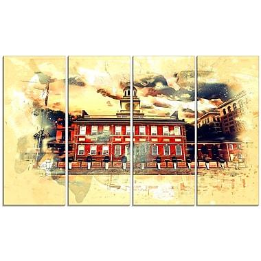 Design Art USA Landmark Large Americana Canvas Art Print
