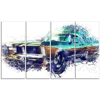 Design Art Pure American Muscle Large Gallery Wrapped Canvas