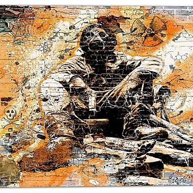 Design Art – Art urbain sur toile, comportement dangereux orange