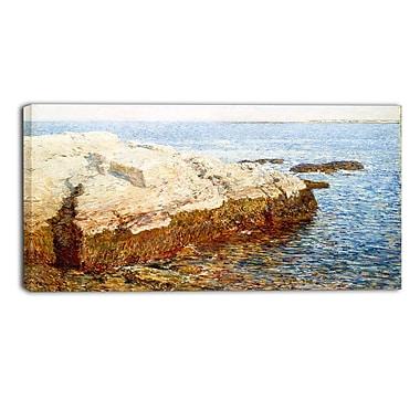 Design Art Childe Hassam, Cliff Rock, Appledore Lansdcape Canvas Artwork
