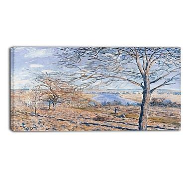 Design Art Alferd Sisley, Banks of the Loing Canvas Art Print 3 Panels