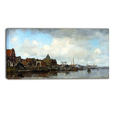 Design Art – Jacob Maris, The Schreierstoren Sea and Shore, impression sur toile