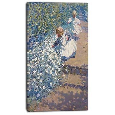 Design Art – JEH MacDonald, Picking Flowers, impression sur toile