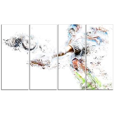 Designart – Art imprimé sur toile, soccer, défense